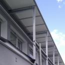 Auvent de balcon vitré