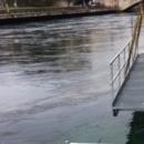 Ponton flottant sur le Rhône
